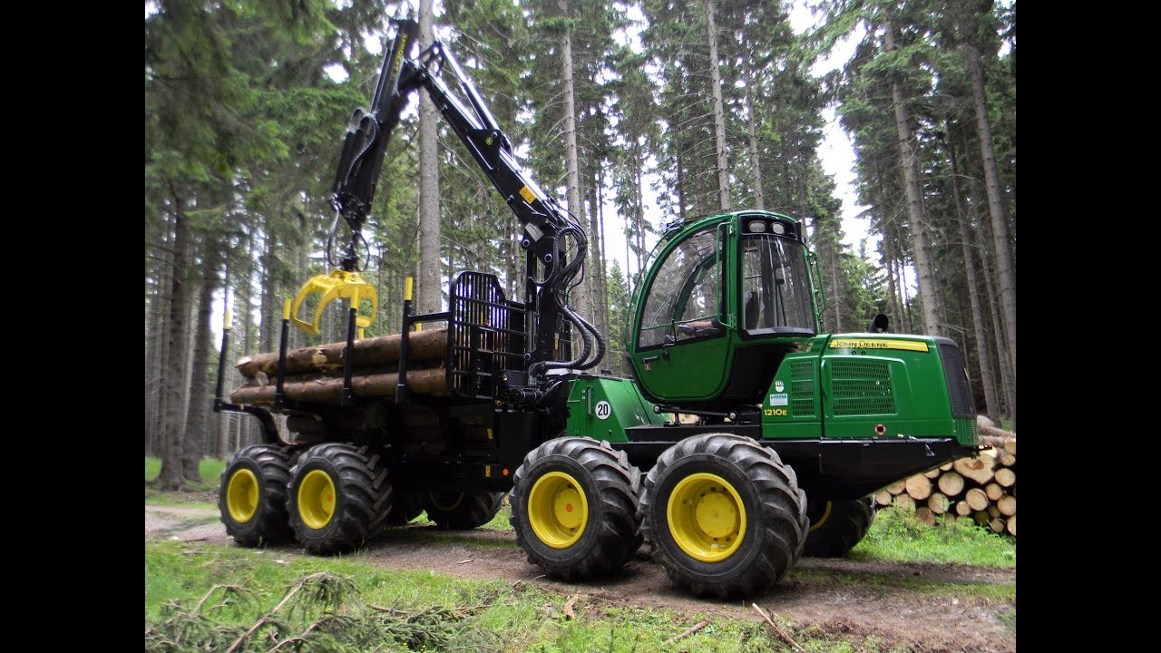 John Deere 1210e Forwarder Youtube