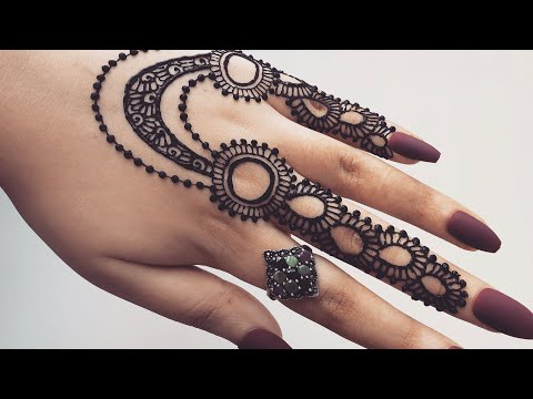 How To Apply Easy Simple Jewellery Ornamental Henna Mehndi