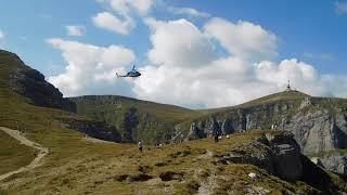 elicopter la Crucea de la Caraiman