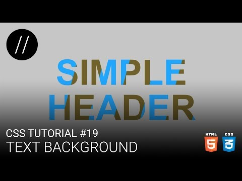 CSS Tutorial #19 — Text Background [UP/TO/DATE] thumbnail