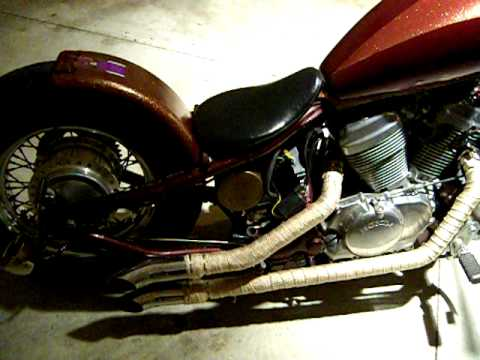 Honda Shadow Vlx Hardtail Bobber Youtube