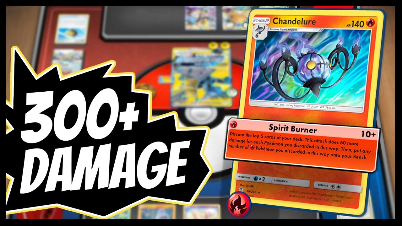 Busted *40 Pokemon* Chandelure Deck - YouTube