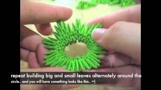 3D origami pineapple tutorial?