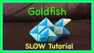 Rubik's Twist or Smiggle Snake Puzzle Tutorial: How to Make a Goldfish Shape SLOW Version