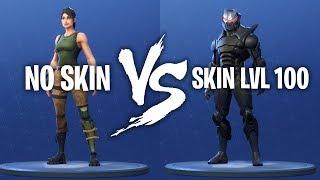 NO SKIN VS SKIN LVL 100