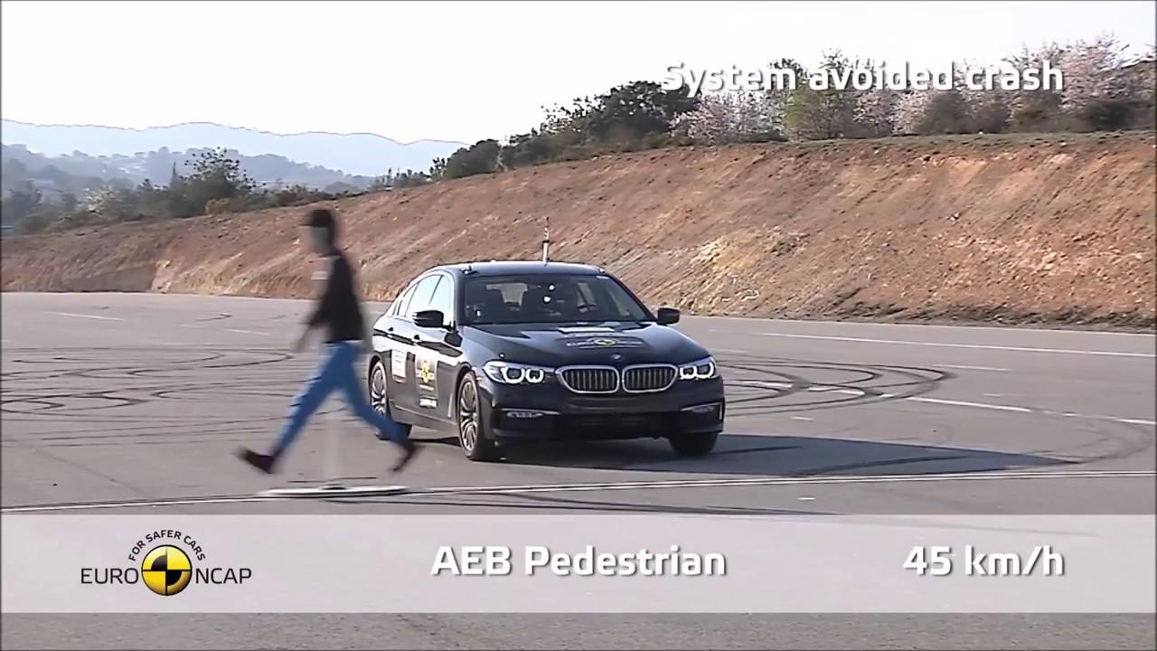 Bmw 5 Series System Avoided Crash Test Youtube