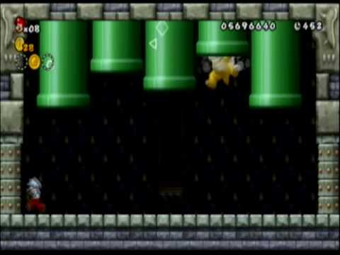 New Super Mario Bros Wii Roy Koopa Battle Castle Youtube