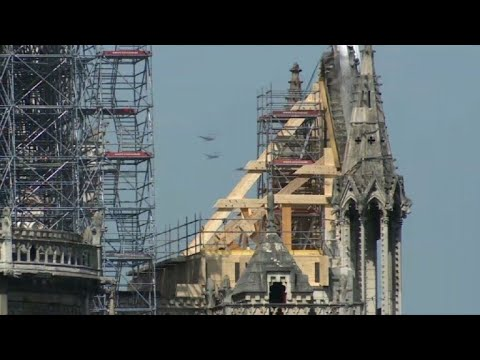 Notre-Dame : le pignon du transept nord sécurisé | AFP Images