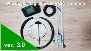 ver.3.0 UltraLight Magnetic Loop Antenna - folded construction