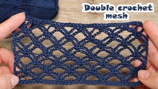Double crochet mesh 💙 Двойная сетка крючком