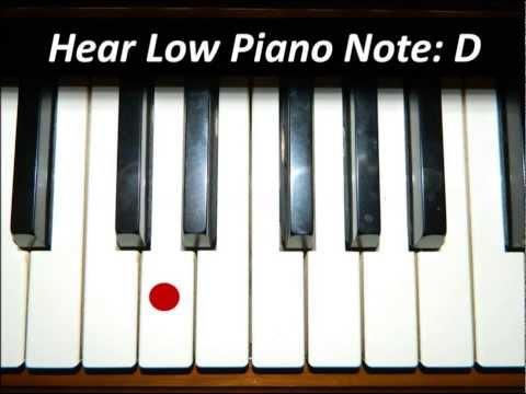 Hear Piano Note - Low D