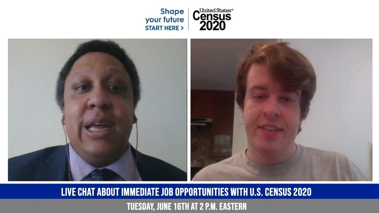Download Upcoming Live Video Chat:  Immediate Job Opportunities with 2020 U.S. Census