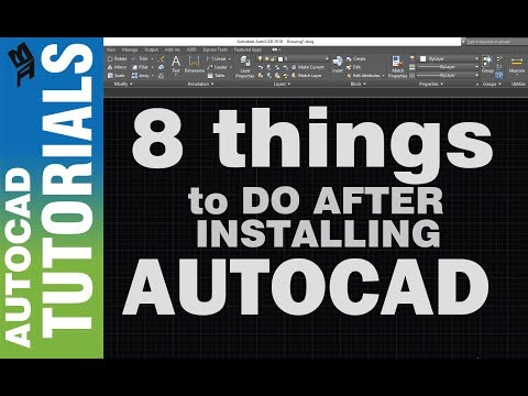 Top 8 things I do after Installing Autocad I Tagalog