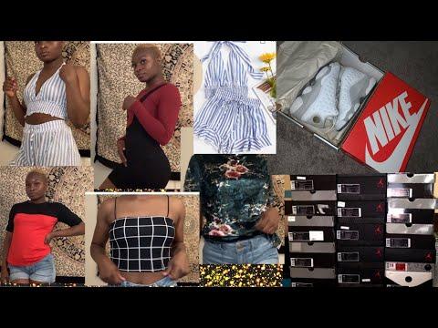 $1000 BACK TO SCHOOL CLOTHING TRY-ON HAUL 2019(SHEIN, NIKE, JORDANS, CHAMPION, COLUMBIA, ETC)