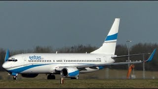 Enterair Boeing 737-800 Departure at Stansted Airport