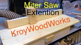 Miter Saw Extension Support
