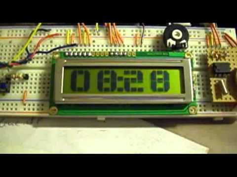 Arduino LCD Big Numbers Clock