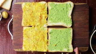 Aloo Masala Sandwich   Potato Chilli Masala Toast /Easy Breakfast    Village Travel Food
