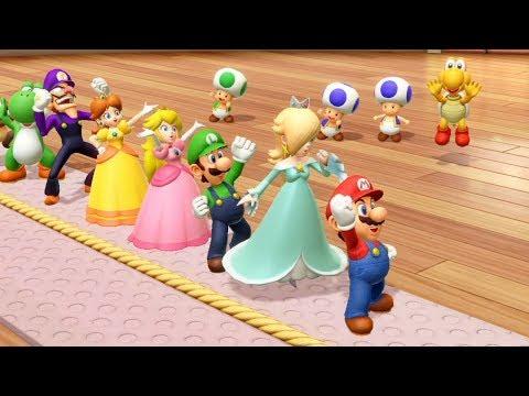 Super Mario Party - All Team Minigames -  Team Mario & Rosalina| Cartoons Mee