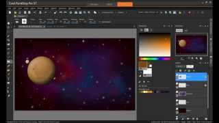 Corel Paint Shop Pro: How to create a space Nebula