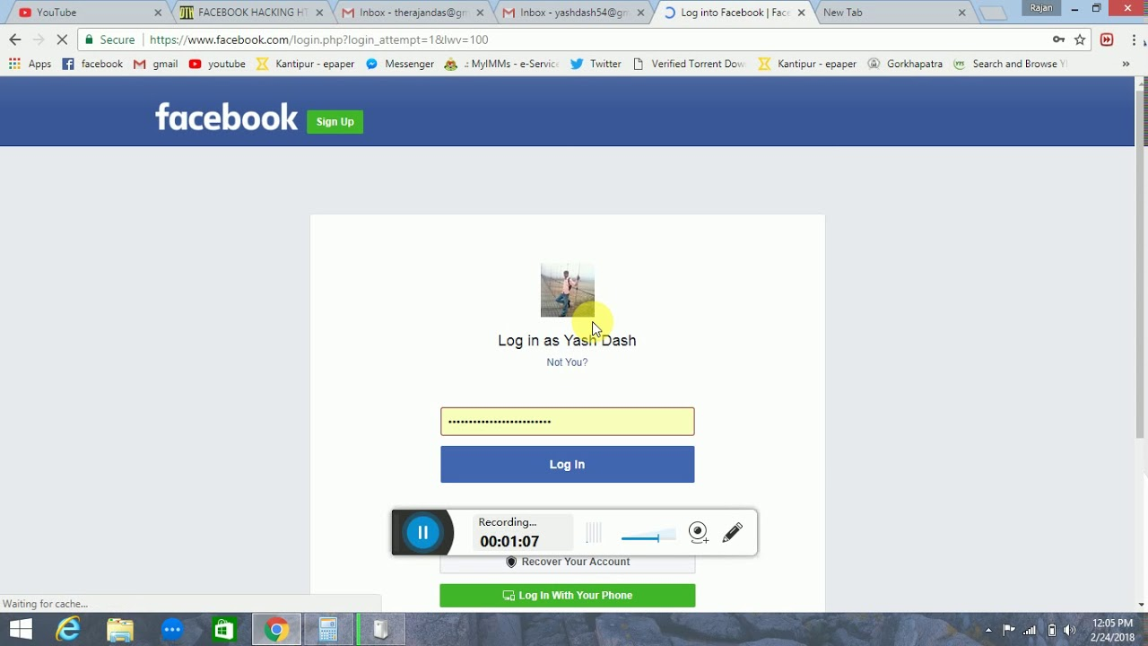 How to recover facebook password without mail id and phone ...