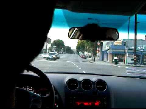 Driving around Los Angeles Metropolitan area