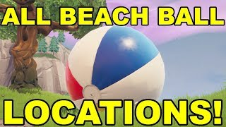 BOUNCE A BEACH BALL IN DIFFERENT MATCHES * FREE REWARDS* (Fortnite 14 Days Of Summer Challenges)