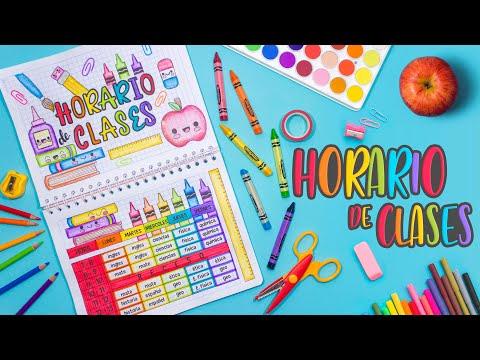 Haz Tu HORARIO DE CLASES BONITO - REGRESO A CLASES