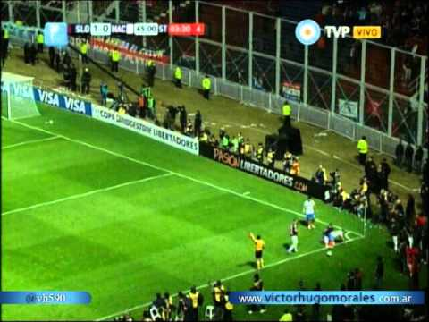 (Historico) San Lorenzo 1 Nacional (P)  0 (Relato Victor Hugo) Copa Libertadores 2014