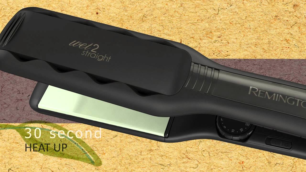 New 2 Remington Wet Straight Flat Iron With Soy Hydra Complex