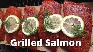 Grilled Salmon Recipe - Cedar Plank Grilled Salmon