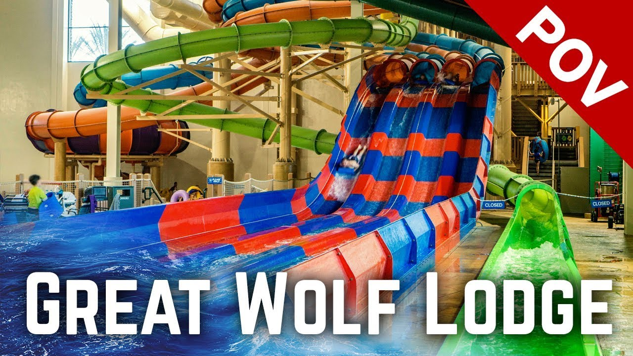 ALL WATER SLIDES at Great Wolf Lodge Garden Grove, California!