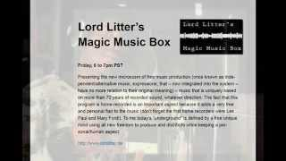 GP on Californian Radio - Lord Litter´s Magic Music Box