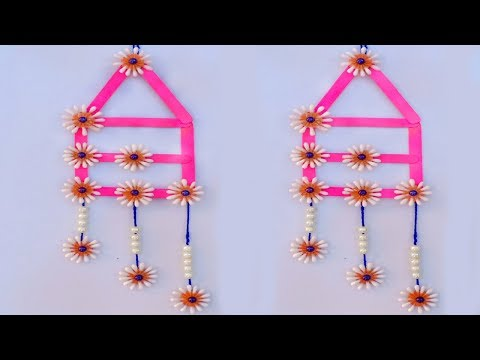DIY Wall Hanging with Icecream Stick and Cotton Buds | Reuse of waste