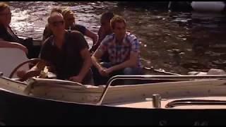 Botsing woonboot Prinsengracht Amsterdam