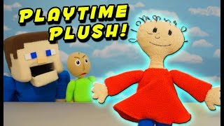 BALDI's BASICS PLAYTIME PLUSH?! Toy Unboxing Toy Review | Puppet Steve