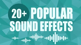 Popular Sound Effects YouTubers Use - Free 20+ Pack