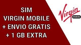 Como comprar sim VIRGIN MOBILE + Envio Gratis +  1 GB EXTRA