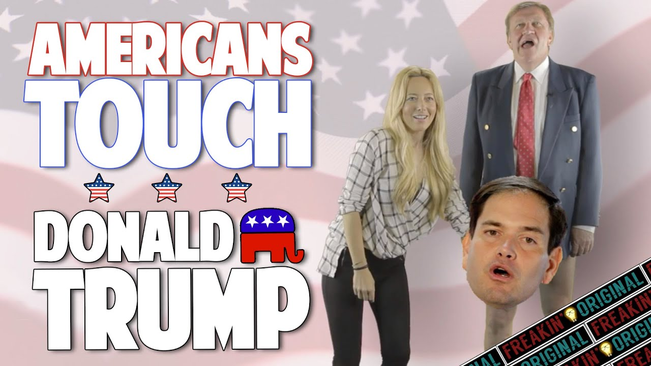 AMERICANS TOUCH DONALD TRUMP FOR THE FIRST TIME