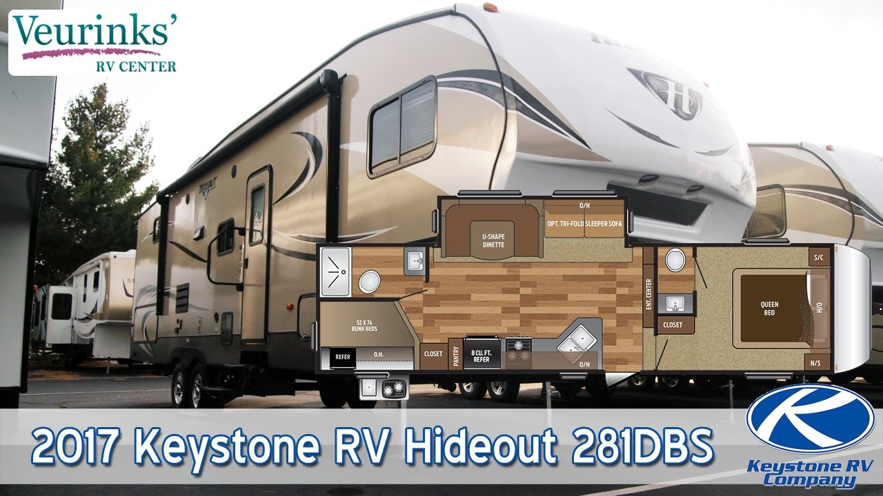 For Sale 2017 Keystone RV Hideout 281DBS 5th Wheel Review