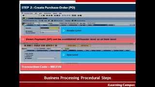 Sipariş PO ile ödeme İşleme Fİ MM Integration –