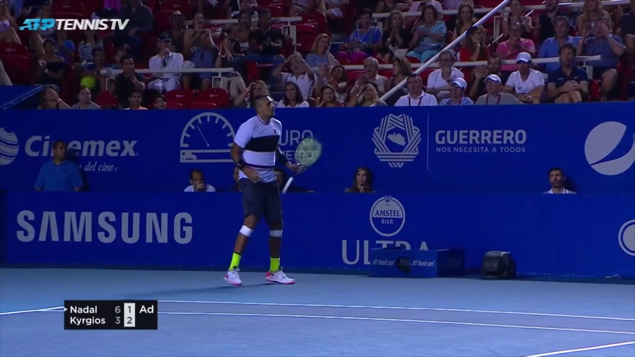 Nick Kyrgios Magic In Victory Over Nadal Acapulco 2019 Youtube