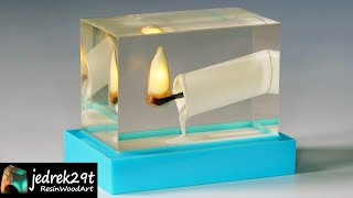 A Burning CANDLE in Epoxy Resin. DIY a Simple Way / RESIN ART