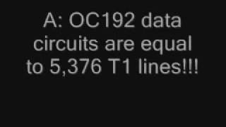 How Many T1 Lines to Equal an OC192 Circuit?