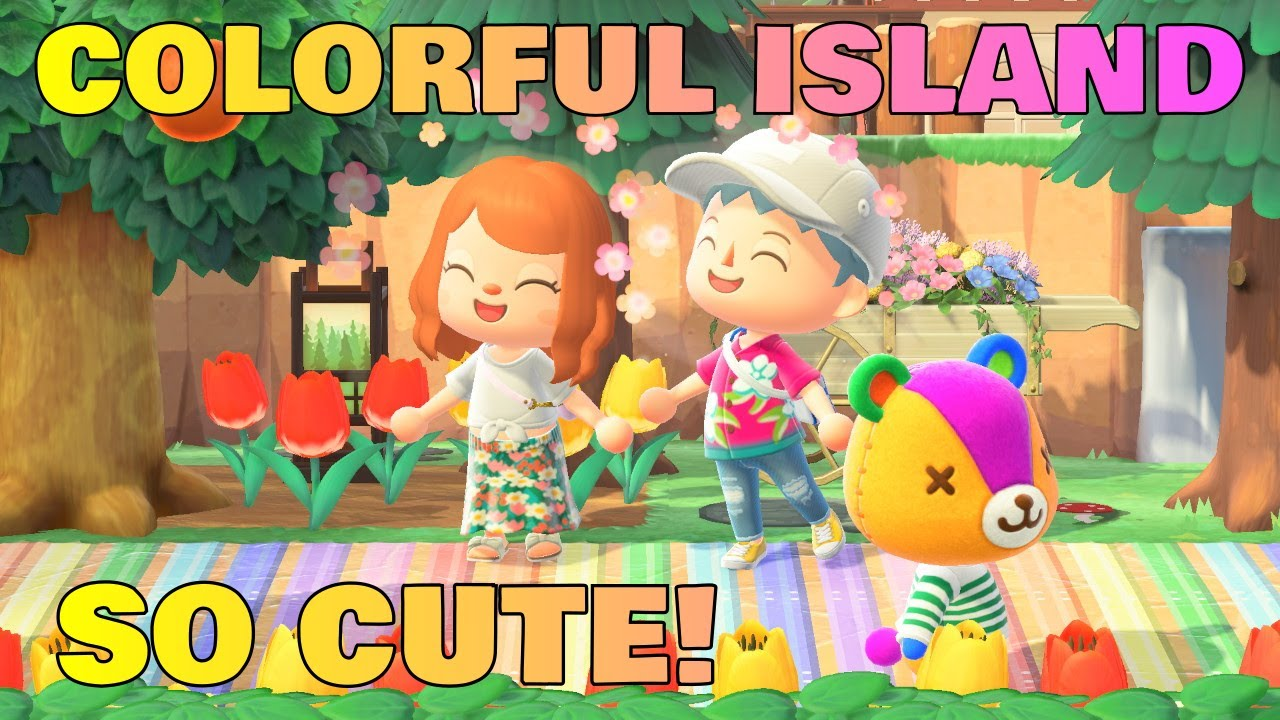 Cute & Colorful Island with Rainbow Paths ☆ Animal ...