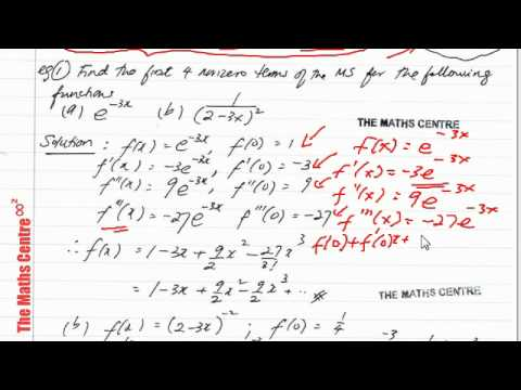 Maclaurin and Taylor series - IB Maths HL Option Calculus Free