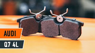 Instalação Jogo de pastilhas de travão traseira e dianteiro AUDI Q7: vídeo manual