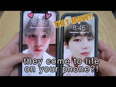 Jimin & V Coming To Life On My Lock Screen?!!// Live Wallpaper Tutorial