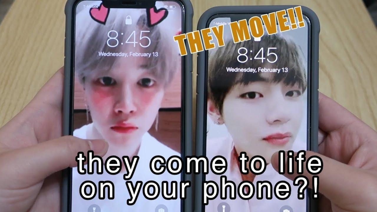 Jimin V Coming To Life On My Lock Screen Live Wallpaper
