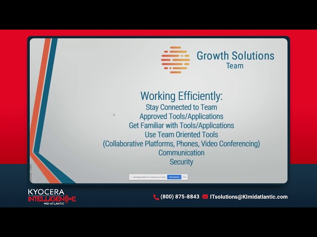 Strategies For A Remote Workforce Webinar | Kyocera Intelligence